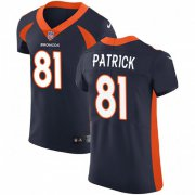 Wholesale Cheap Nike Broncos #81 Tim Patrick Navy Blue Alternate Men's Stitched NFL Vapor Untouchable Elite Jersey