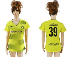 Wholesale Cheap Women\'s Dortmund #39 Bonmann Home Soccer Club Jersey