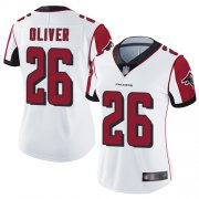 Wholesale Cheap Nike Falcons #26 Isaiah Oliver White Women's Stitched NFL Vapor Untouchable Limited Jersey