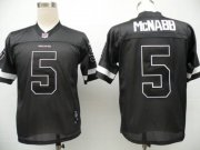 Wholesale Cheap Redskins #5 Donovan McNabb Black Shadow Stitched NFL Jersey