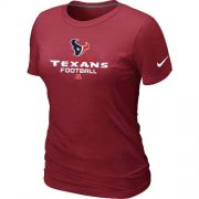 Wholesale Cheap Women's Nike Houston Texans Critical Victory NFL T-Shirt Red