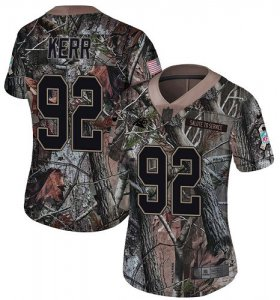 Wholesale Cheap Nike Panthers #92 Zach Kerr Camo Women\'s Stitched NFL Limited Rush Realtree Jersey