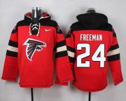 Wholesale Cheap Nike Falcons #24 Devonta Freeman Red Player Pullover NFL Hoodie