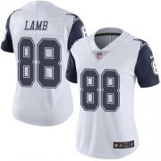 Wholesale Cheap Nike Cowboys #88 CeeDee Lamb White Women's Stitched NFL Limited Rush Jersey