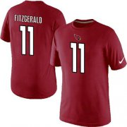 Wholesale Cheap Nike Arizona Cardinals #11 Larry Fitzgerald Pride Name & Number NFL T-Shirt Red