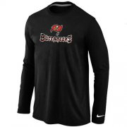 Wholesale Cheap Nike Tampa Bay Buccaneers Authentic Logo Long Sleeve NFL T-Shirt Black