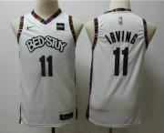 Cheap Youth Brooklyn Nets #11 Kyrie Irving NEW White 2020 City Edition NBA Swingman Jersey With The Sponsor Logo
