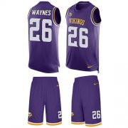 Wholesale Cheap Nike Vikings #26 Trae Waynes Purple Team Color Men's Stitched NFL Limited Tank Top Suit Jersey