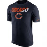 Wholesale Cheap Men's Chicago Bears Nike Navy Blue Legend Staff Practice Performance T-Shirt
