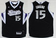 Wholesale Cheap Sacramento Kings #15 DeMarcus Cousins Revolution 30 Swingman Black Jersey