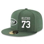 Wholesale Cheap New York Jets #73 Joe Klecko Snapback Cap NFL Player Green with White Number Stitched Hat