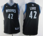 Cheap Minnesota Timberwolves #42 Kevin Love Black Kids Jersey