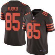 Wholesale Cheap Nike Browns #85 David Njoku Brown Youth Stitched NFL Limited Rush Jersey