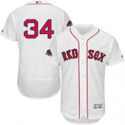 Wholesale Cheap Red Sox #34 David Ortiz White Flexbase Authentic Collection 2018 World Series Champions Stitched MLB Jersey