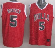 Wholesale Cheap Chicago Bulls #5 Carlos Boozer Red Leopard Print Fashion Jersey