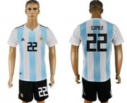 Wholesale Cheap Argentina #22 Gomez Home Soccer Country Jersey
