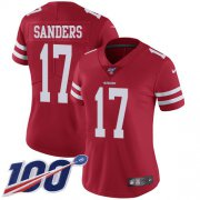 Wholesale Cheap Nike 49ers #17 Emmanuel Sanders Red Team Color Women's Stitched NFL 100th Season Vapor Limited Jersey