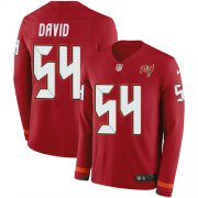 Wholesale Cheap Nike Buccaneers #54 Lavonte David Red Team Color Men's Stitched NFL Limited Therma Long Sleeve Jersey