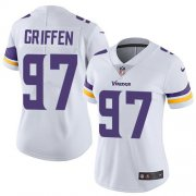 Wholesale Cheap Nike Vikings #97 Everson Griffen White Women's Stitched NFL Vapor Untouchable Limited Jersey