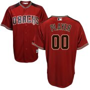 Wholesale Cheap Arizona Diamondbacks Majestic Cool Base Custom Jersey Red