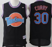 Wholesale Cheap Tune Squad 30 Stephen Curry Black Stitched Movie Mesh Basketball Jersey