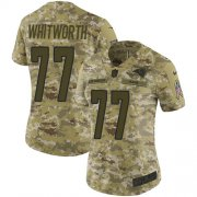 Wholesale Cheap Nike Rams #77 Andrew Whitworth Camo Women's Stitched NFL Limited 2018 Salute to Service Jersey