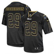 Wholesale Cheap Nike Rams #29 Eric Dickerson Lights Out Black Men's Stitched NFL Elite Jersey