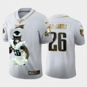 Cheap Philadelphia Eagles #26 Miles Sanders Nike Team Hero 1 Vapor Limited NFL 100 Jersey White Golden