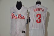 Wholesale Cheap Men's Philadelphia Phillies #3 Bryce Harper White 2020 Cool and Refreshing Sleeveless Fan Stitched Flex Nike Jersey