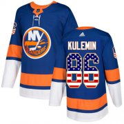 Wholesale Cheap Adidas Islanders #86 Nikolay Kulemin Royal Blue Home Authentic USA Flag Stitched NHL Jersey