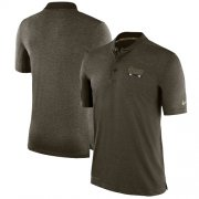 Wholesale Cheap Men's Los Angeles Rams Nike Olive Salute to Service Sideline Polo T-Shirt