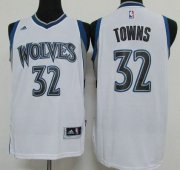 Wholesale Cheap Men's Minnesota Timberwolves #32 Karl-Anthony Towns Revolution 30 Swingman 2015 Draft New White Jersey