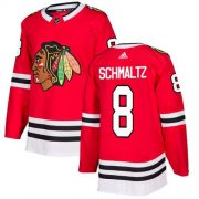 Wholesale Cheap Adidas Blackhawks #8 Nick Schmaltz Red Home Authentic Stitched NHL Jersey