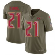 Wholesale Cheap Nike Buccaneers #21 Justin Evans Olive Youth Stitched NFL Limited 2017 Salute to Service Jersey