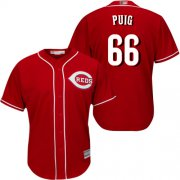 Wholesale Cheap Reds #66 Yasiel Puig Red New Cool Base Stitched MLB Jersey