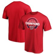 Wholesale Cheap Washington Nationals Majestic 2019 World Series Champions Forkball T-Shirt Red