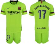 Wholesale Cheap Barcelona #17 Paco Alcacer Away Soccer Club Jersey