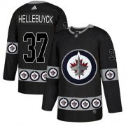 Wholesale Cheap Adidas Jets #37 Connor Hellebuyck Black Authentic Team Logo Fashion Stitched NHL Jersey