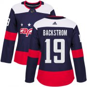 Wholesale Cheap Adidas Capitals #19 Nicklas Backstrom Navy Authentic 2018 Stadium Series Women's Stitched NHL Jersey