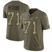 Wholesale Cheap Nike Eagles #71 Jason Peters Olive/Camo Men's Stitched NFL Limited 2017 Salute To Service Jersey