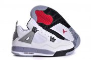 Wholesale Cheap Womens Air Jordan 4 (IV) Retro Shoes white/gray-black-red