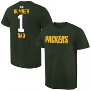 Wholesale Cheap Men's Green Bay Packers Pro Line College Number 1 Dad T-Shirt Green