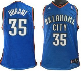 Wholesale Cheap Oklahoma City Thunder #35 Kevin Durant Blue Swingman Jersey