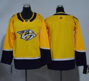 Wholesale Cheap Adidas Predators Blank Yellow Home Authentic Stitched Youth NHL Jersey
