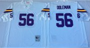 Wholesale Cheap Mitchell And Ness Vikings #56 Chris Doleman White Throwback Stitched NFL Jersey