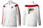 Wholesale Cheap NFL Miami Dolphins Team Logo Jacket White_2