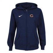 Wholesale Cheap Nike Chicago Bears Ladies Tailgater Full Zip Hoodie Blue