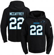 Wholesale Cheap Nike Panthers #22 Christian McCaffrey Black Name & Number Pullover NFL Hoodie
