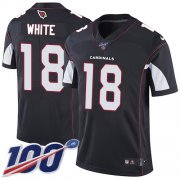 Wholesale Cheap Nike Cardinals #18 Kevin White Black Alternate Men's Stitched NFL 100th Season Vapor Limited Jersey