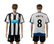 Wholesale Cheap Newcastle #8 Anita Home Soccer Club Jersey